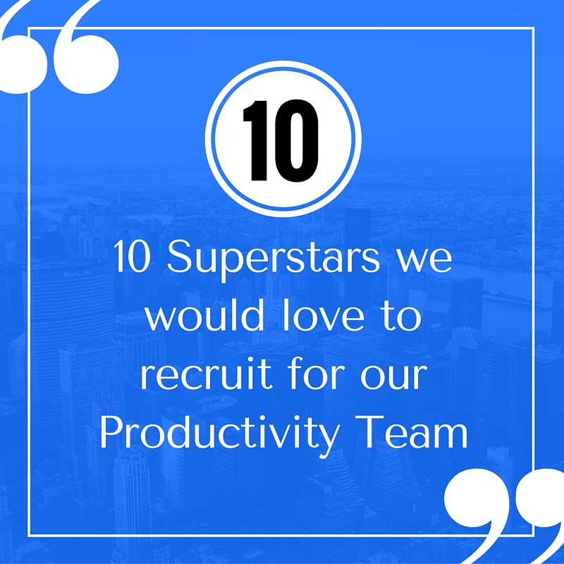 10 Productivity Superstars