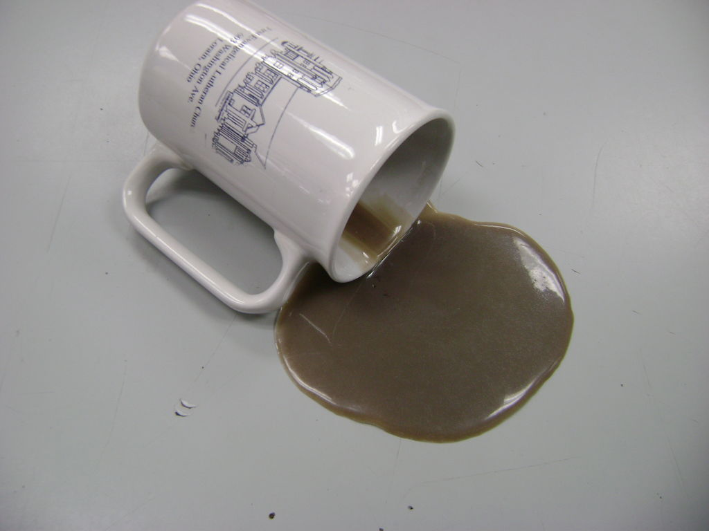 Fake Spilled Coffee Cup To Go