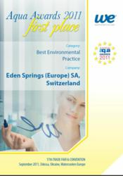 aqua awards best environmental practice