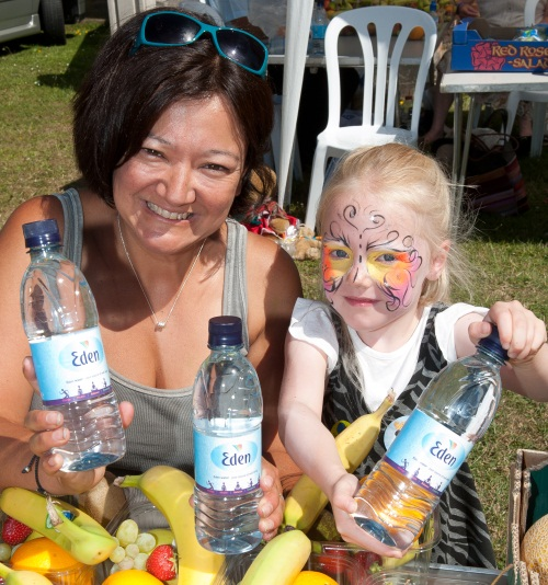 Free water for The Childrens Trust Family Fun Day