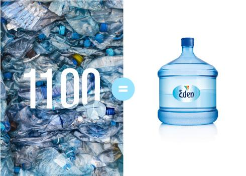 Each bottle is reused up to 50 times